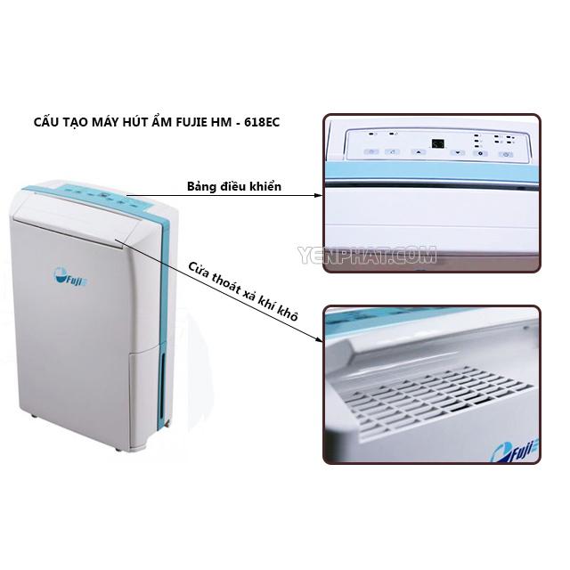 máy hút ẩm fujie HM-618EC